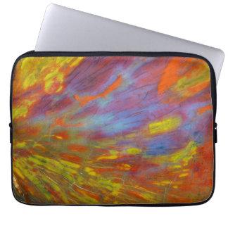 Protection Pour Ordinateur Portable Plan rapproché coloré en bois Petrified