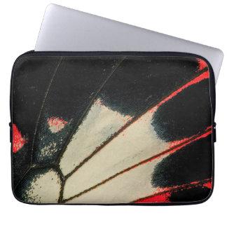 Protection Pour Ordinateur Portable Plan rapproché rouge et noir de papillon