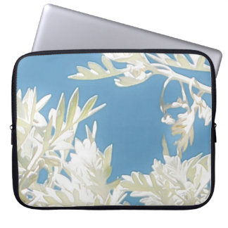 Protection Pour Ordinateur Portable Plantes blancs au-dessus de ciel bleu