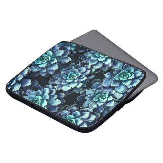 Protection Pour Ordinateur Portable Plantes succulents bleus et verts
