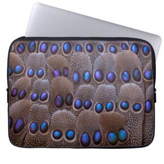 Protection Pour Ordinateur Portable Plume de faisan repérée par bleu