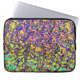 Protection Pour Ordinateur Portable Pochette ordinateur 33cm motif psychédélique fluo