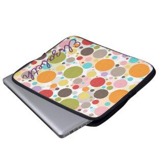 Protection Pour Ordinateur Portable Pois girly à la mode coloré frais de bulles