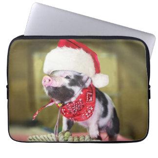 Protection Pour Ordinateur Portable Porc le père noël - porc de Noël - porcelet