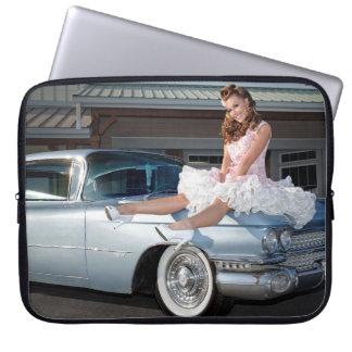 Protection Pour Ordinateur Portable Princesse 1959 de Cadillac de chariot Pin Up Car