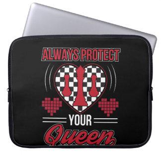 Protection Pour Ordinateur Portable Protégez toujours vos échecs de cool de la Reine