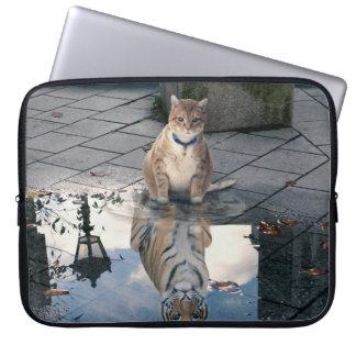 Protection Pour Ordinateur Portable Réflexion de chat - gros chat - memes de chat -