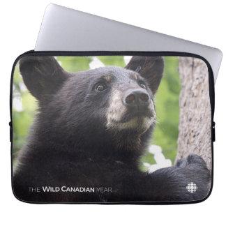 Protection Pour Ordinateur Portable Ressort - ours noir