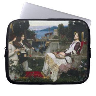 Protection Pour Ordinateur Portable Saint Cecilia dans le jardin