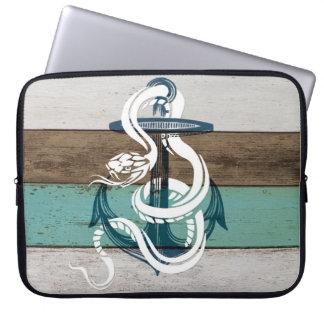 Protection Pour Ordinateur Portable Serpent bleu vintage frais impressionnant de blanc