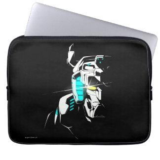 Protection Pour Ordinateur Portable Silhouette brillante d'oeil de Voltron |