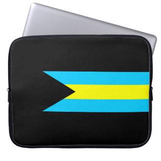 Protection Pour Ordinateur Portable Symbole de drapeau de pays des Bahamas longtemps