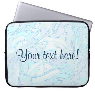 Protection Pour Ordinateur Portable Texture marbrée par menthe avec le texte témoin