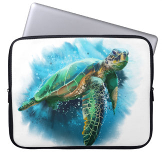Protection Pour Ordinateur Portable Tortue de mer verte
