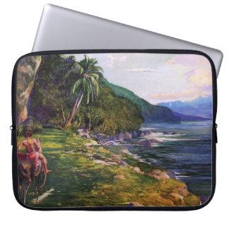 """Protection Pour Ordinateur Portable """"Un chemin de frein en La Farge du Tahiti"""" - John"""