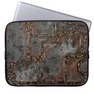 Protection Pour Ordinateur Portable Vieux mur B en métal