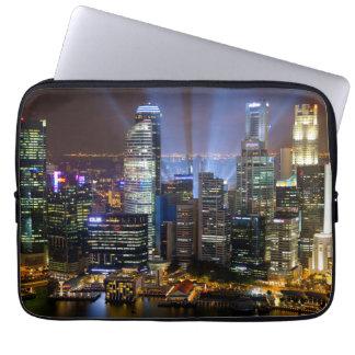 Protection Pour Ordinateur Portable Ville du centre de Singapour la nuit