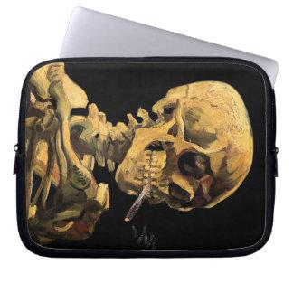 Protection Pour Ordinateur Portable Vincent van Gogh - crâne avec la cigarette