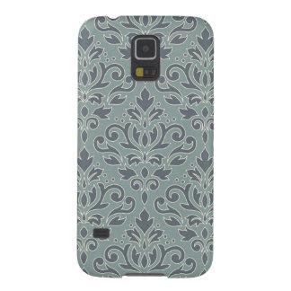 Protections Galaxy S5 Bleu Teal de crème de motif d'atterrisseur de