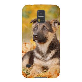 Protections Galaxy S5 Chiot de chien de berger allemand d'automne