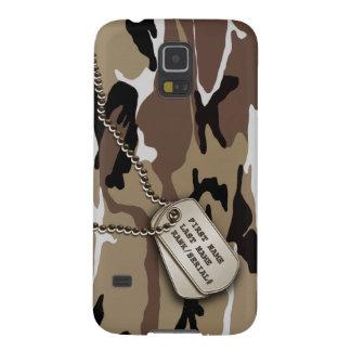 Protections Galaxy S5 Désert militaire Camo avec l'étiquette de chien