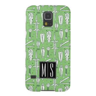 Protections Galaxy S5 Monogramme du motif | de crocodile de croquis