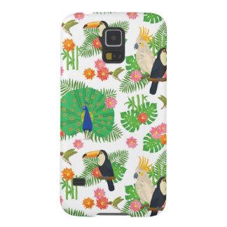 Protections Galaxy S5 Tucan et motif de paon