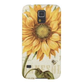 Protections Galaxy S5 Un tournesol jaune