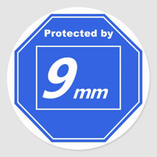 Protégé de 9mm sticker rond