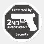 Protégé par 2ème amendement autocollants