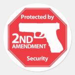 Protégé par 2ème amendement - rouge adhésif