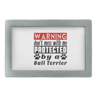 Protégé par le bull-terrier boucles de ceinture rectangulaires