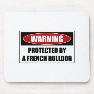 Protégé par un bouledogue français tapis de souris