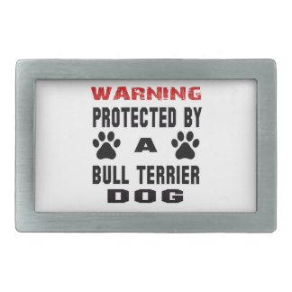 Protégé par un chien de bull-terrier boucle de ceinture rectangulaire