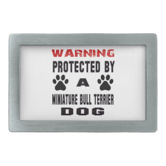 Protégé par un chien miniature de bull-terrier boucle de ceinture rectangulaire