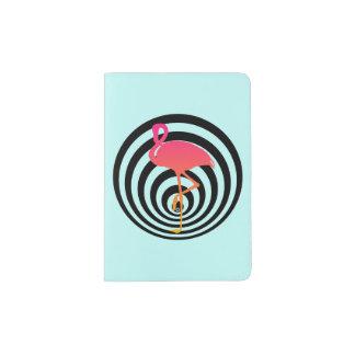 Protège-passeport Beau flamant en cercles
