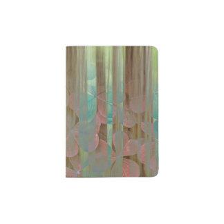 Protège-passeport Collage d'Oxalis et d'arbres | Seabeck, WA