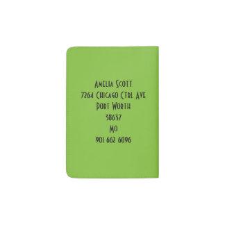 Protège-passeport Crâne coloré génial abstrait de sucre