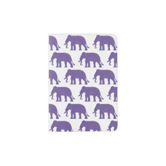 Protège-passeport Éléphants pourpres