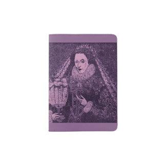 Protège-passeport La Reine Elizabeth I en lavande