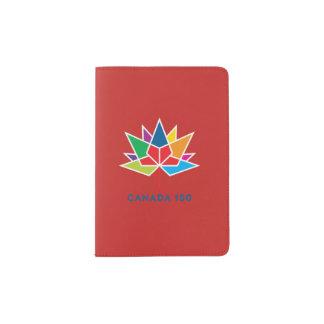 Protège-passeport Logo de fonctionnaire du Canada 150 - multicolore