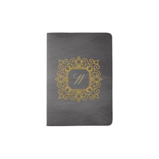 Protège-passeport Monogramme carré fleuri sur le tableau