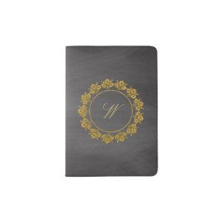 Protège-passeport Monogramme circulaire de motif sur le tableau