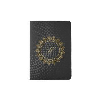 Protège-passeport Monogramme complexe moderne sur la circulaire