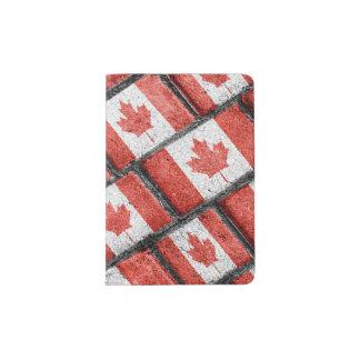 Protège-passeport Motif canadien de motif de drapeau