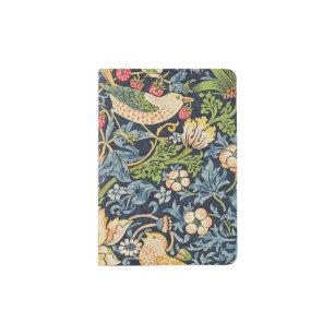 Protège-passeport Schéma floral William Morris Strawberry Thief
