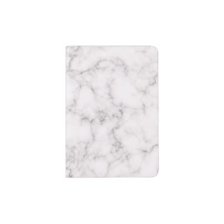 Protège-passeport Style de marbre élégant