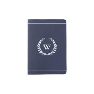 Protège-passeport Support bleu élégant classique de passeport de