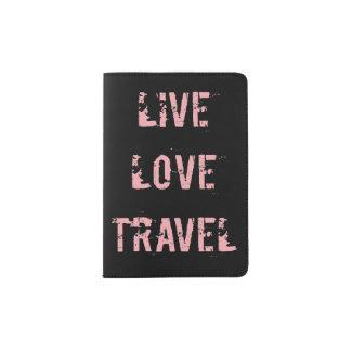 Protège-passeport Vivant, amour, support de passeport de voyage