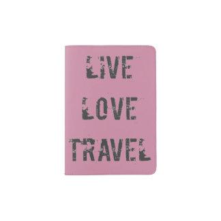 Protège-passeport Vivant, amour, voyage
